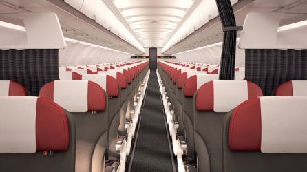 Airbus short-haul fleet cabin