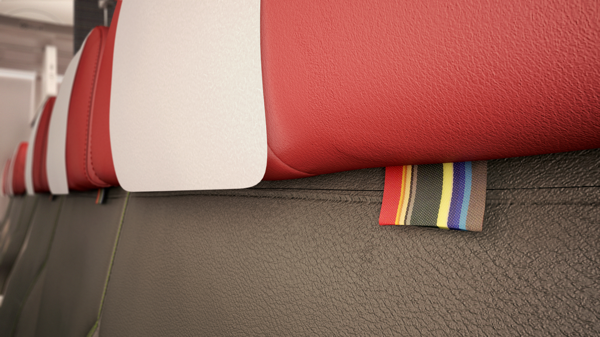 South african airways reveal new short haul interiors thedesignair - The Fabric For The Seats In The Short Haul Cabins Was Designed Incorporating Four Colors And Two Different Leather Textures For The New Long Haul Cabins