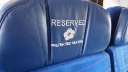 Currently The Extra Legroom seats have reserved stitched into them