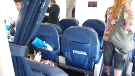 The First Class cabin seating (old style)