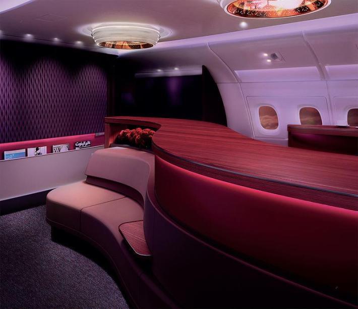 qatar A380lounge