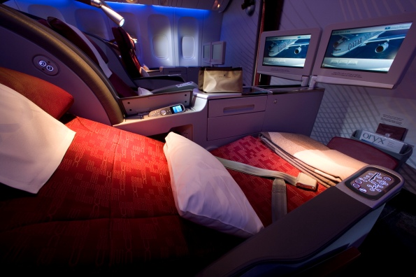 The 777 seat, part reclined
