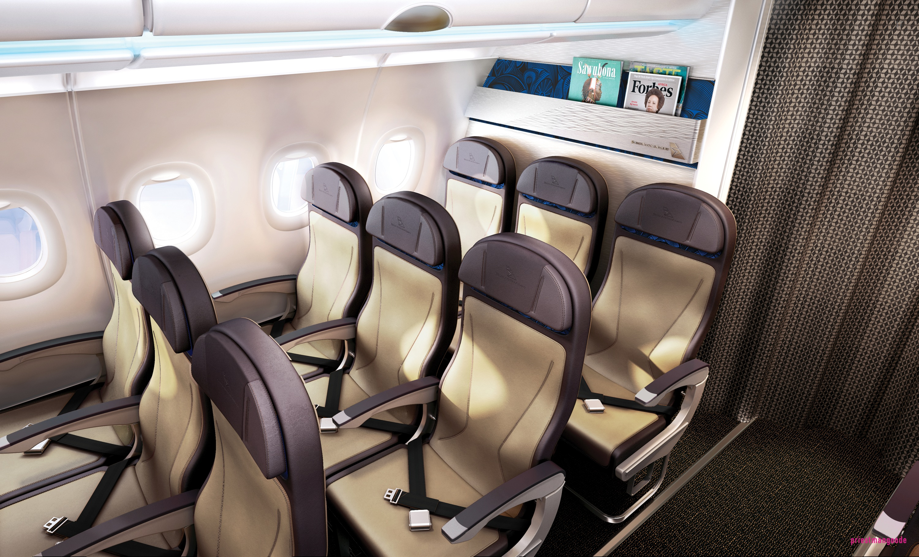South african airways reveal new short haul interiors thedesignair - Saa A320 Cabin Interior_blue Version_march 201317