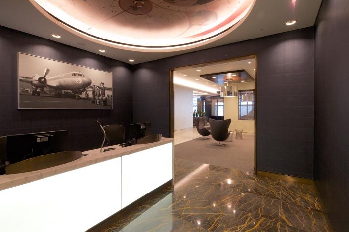 Armchairs in United Club, Heathrow T2