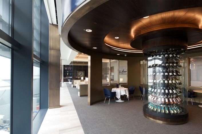 Wine Room in United Global First Lounge, Heathrow T2