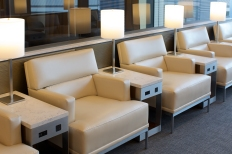 Seating in United Global First Lounge, Heathrow T2