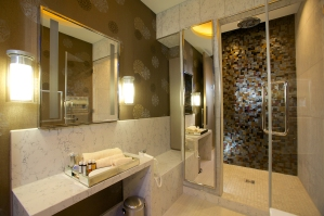 Shower suite in United Club, Heathrow T2