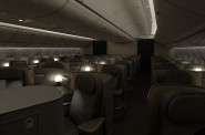 'Study in the Sky' Business Class - Courtesy of Talk Airlines