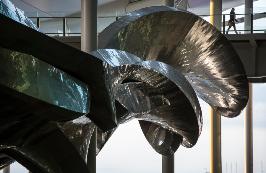 Slipstream by Richard Wilson at Heathrow's new Terminal 2 The Queen's Terminal. Photograher David Levene 5