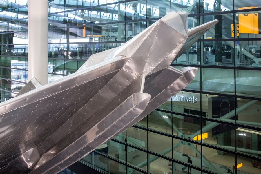 Slipstream by Richard Wilson at Heathrow's new Terminal 2 The Queen's Terminal. Photograher David Levene
