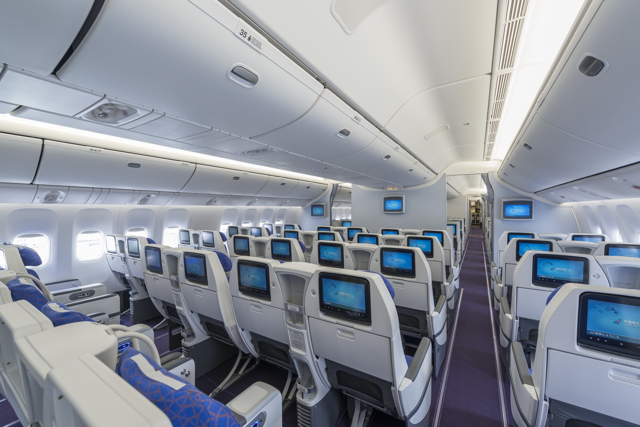 A closer look at china southern s new 777 interior for Interieur airbus a340 600