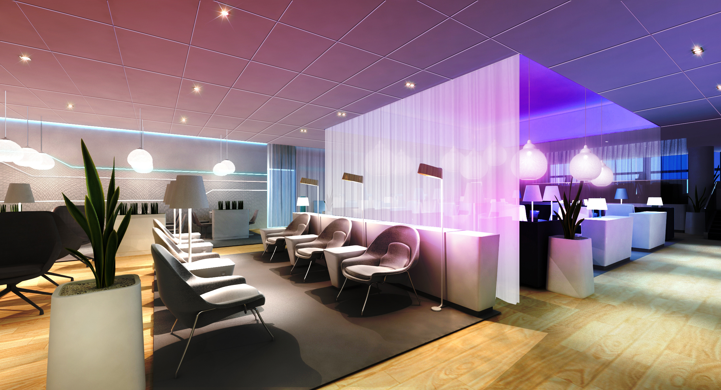 Premium lounge with a sauna has to be finnair thedesignair for Lounge area ideas