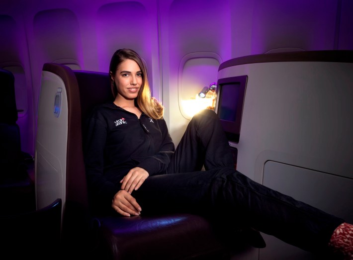 Amber Le Bon in VS Onesie