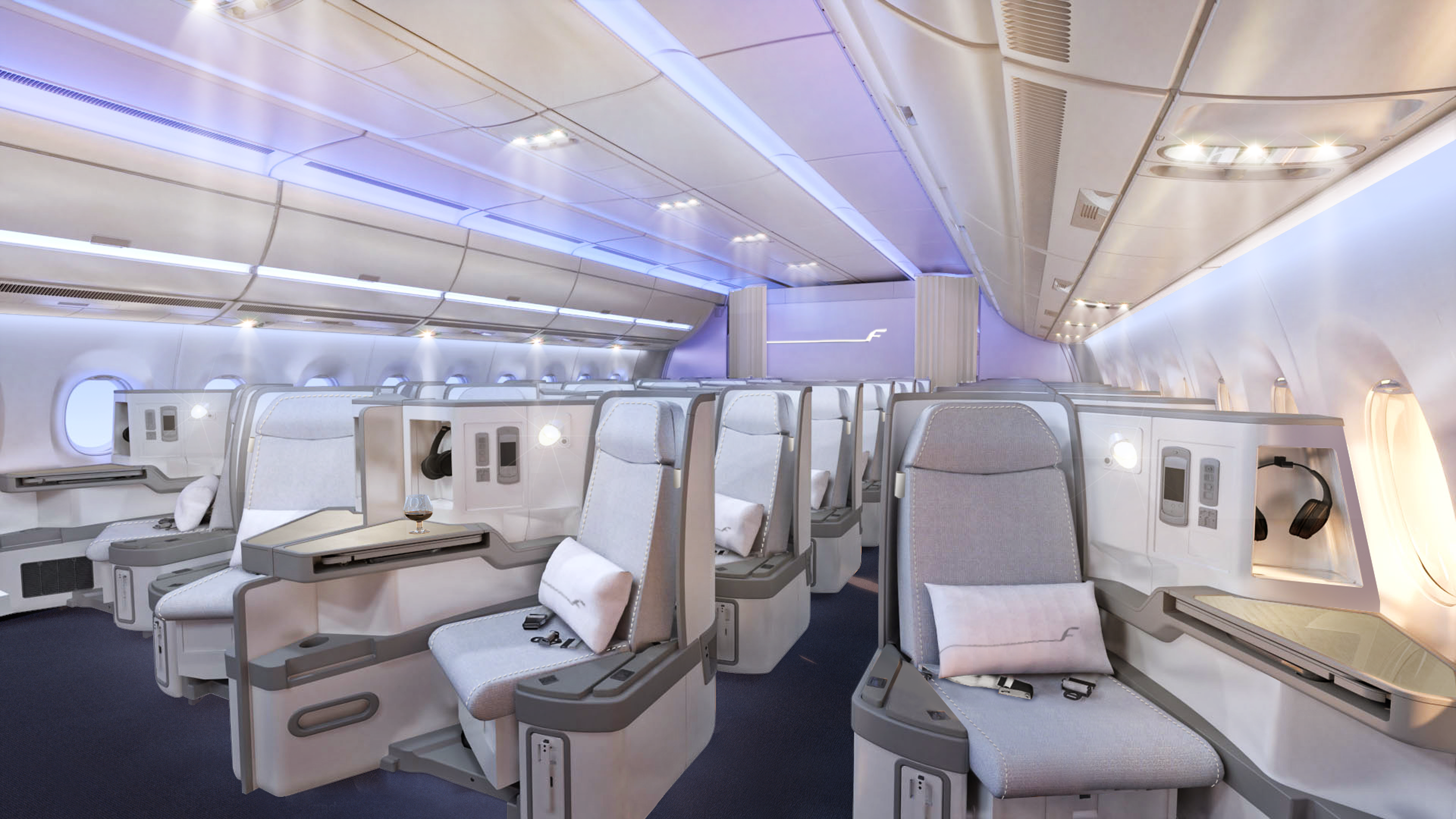 Finnair Light Up Our Lives With New A350 Cabin Thedesignair