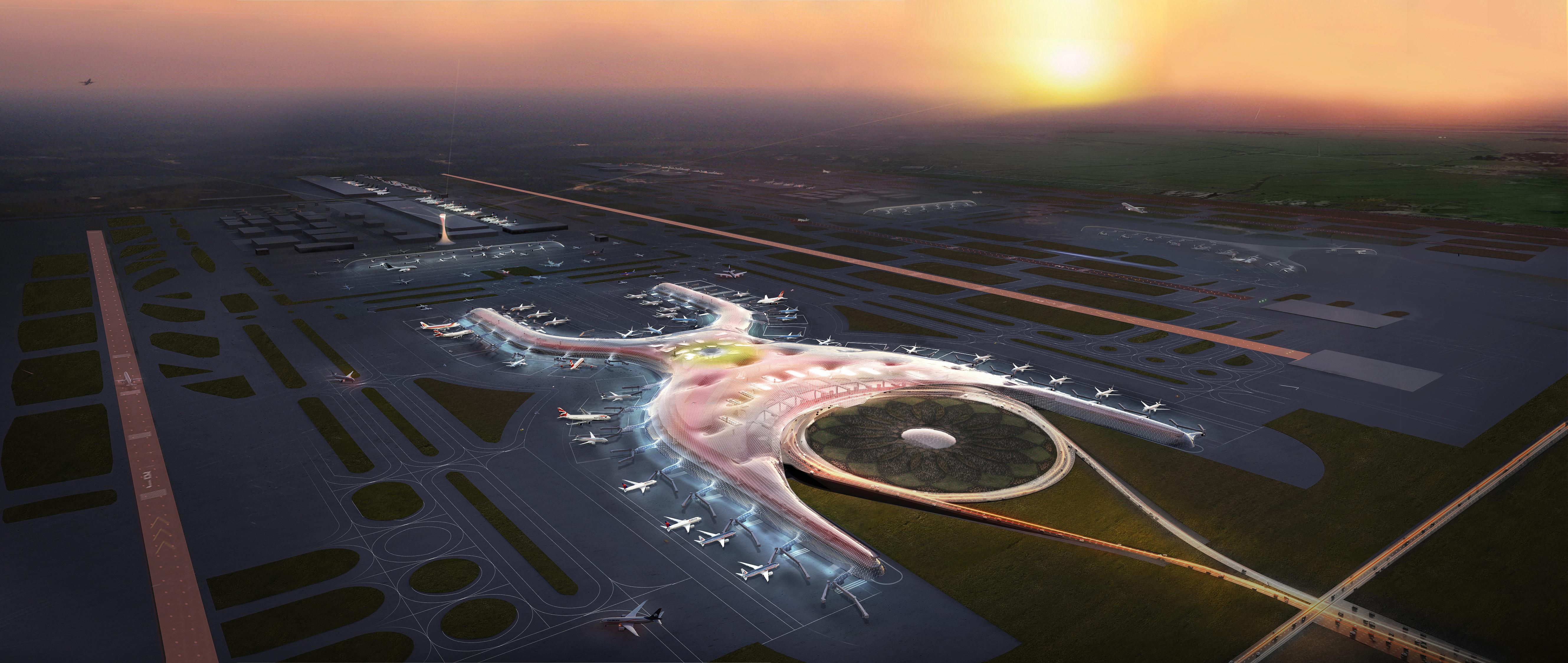 Beijing Airport Inside And Beijing's New Airport