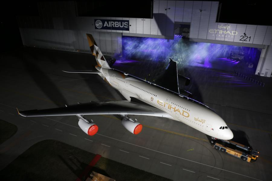 Etihad A380 New Livery Photo 1