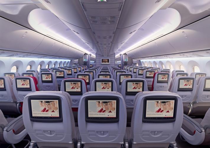 Royal Jordanian 787 Economy Class