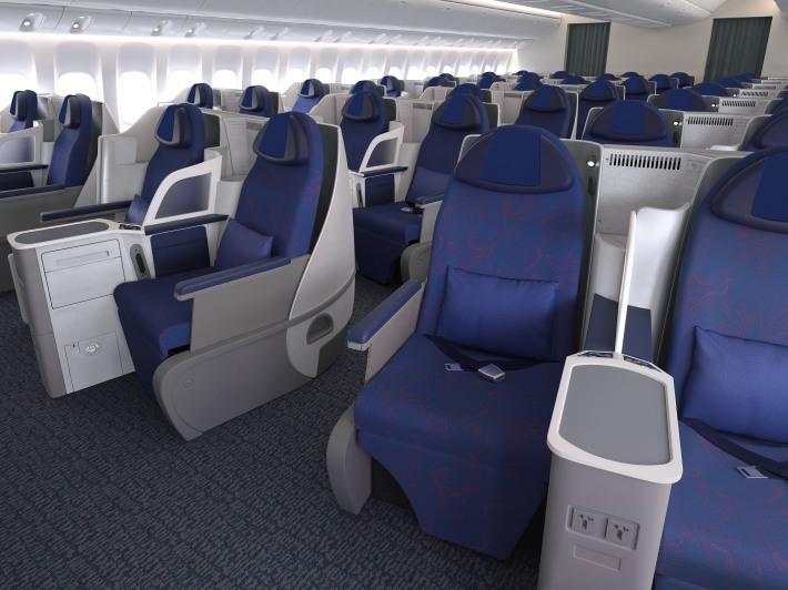Air China Business Class Main Deck