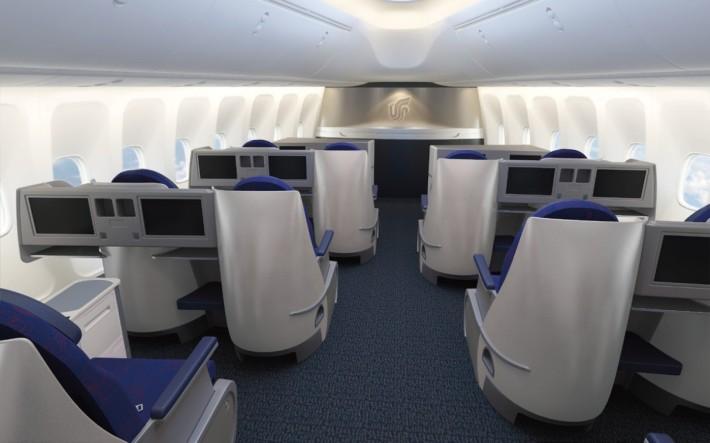 Air China Business Class Upper Deck