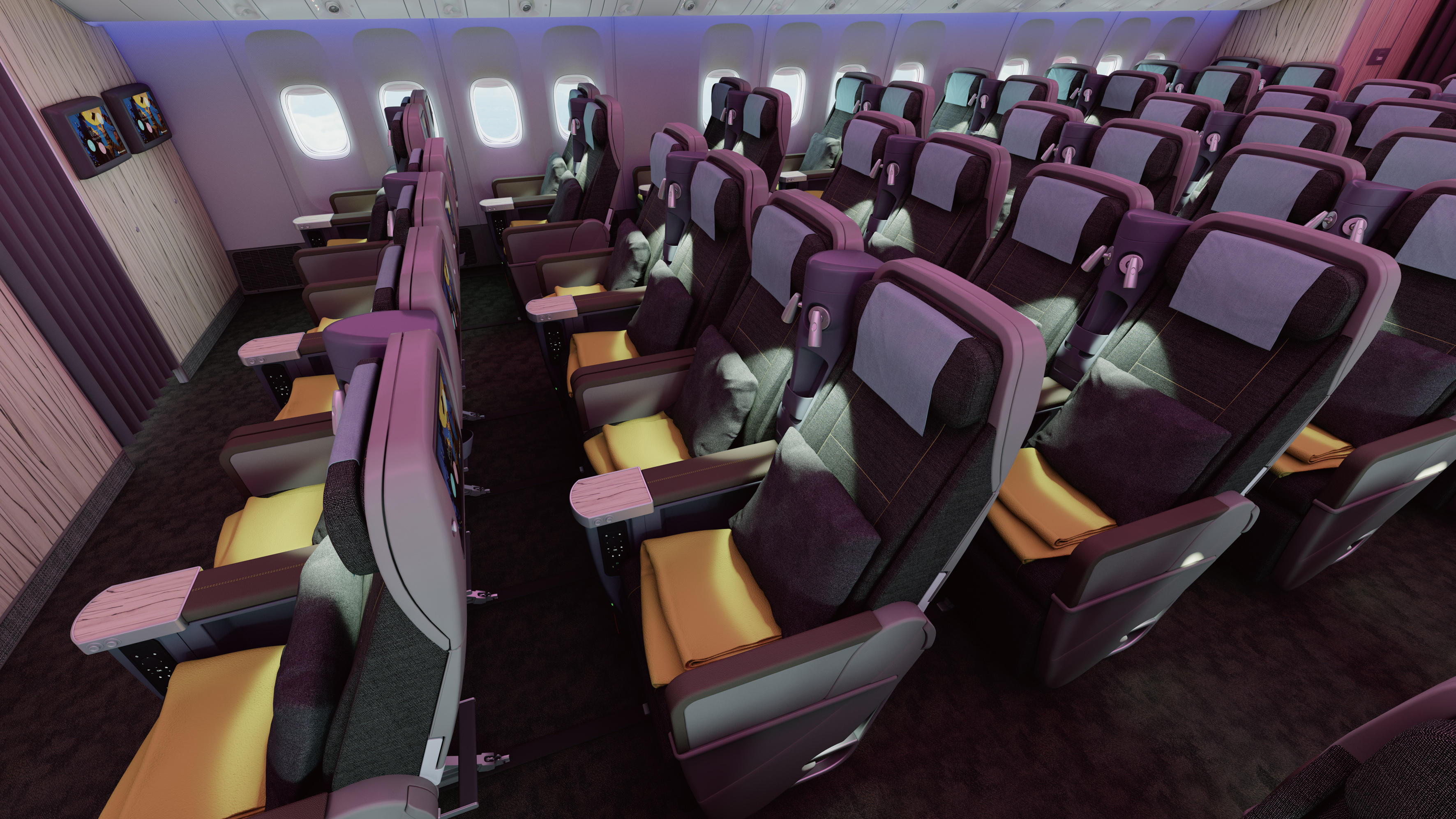 Delta Airlines Wifi A Closer Look At China Airlines New 777 300er Thedesignair
