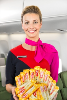 Cabin crew with Weis ice cream bars