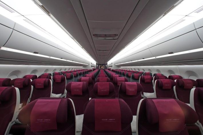 Pic 34 Qatar Airways' Airbus A350-900  Economy Class