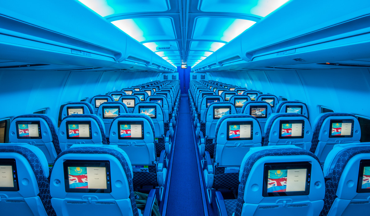 Is air astana s new economy sleeper seat all it appears for Interieur boeing 757