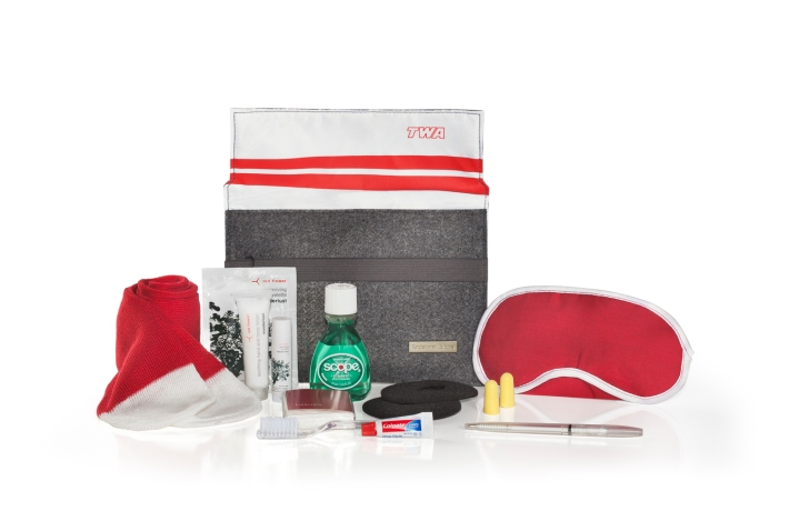 American Airlines Heritage Amenity Kits 3 (intl TWA kit)
