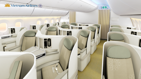 Image result for vietnam airlines business class 787
