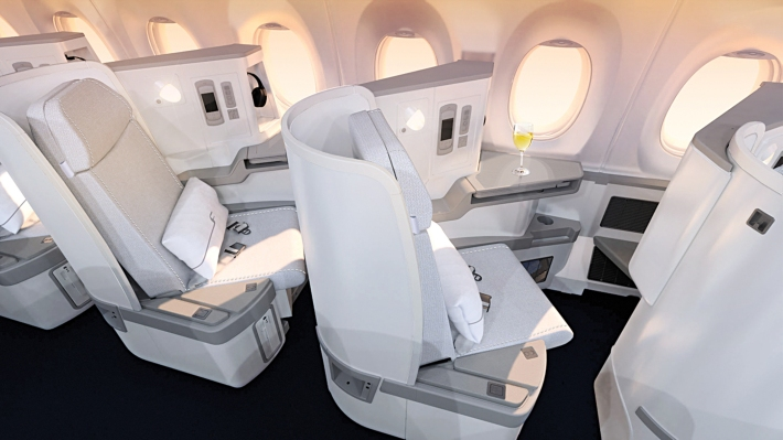 Finnair A350 XWB Business Class Cabin 03 seat HR