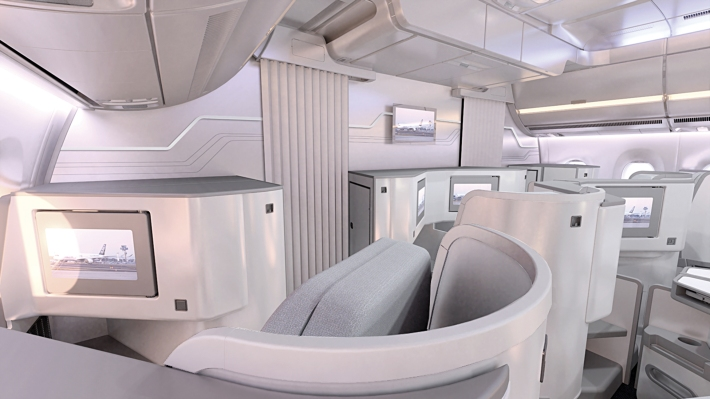 Finnair A350 XWB Business Class Cabin 04 HR
