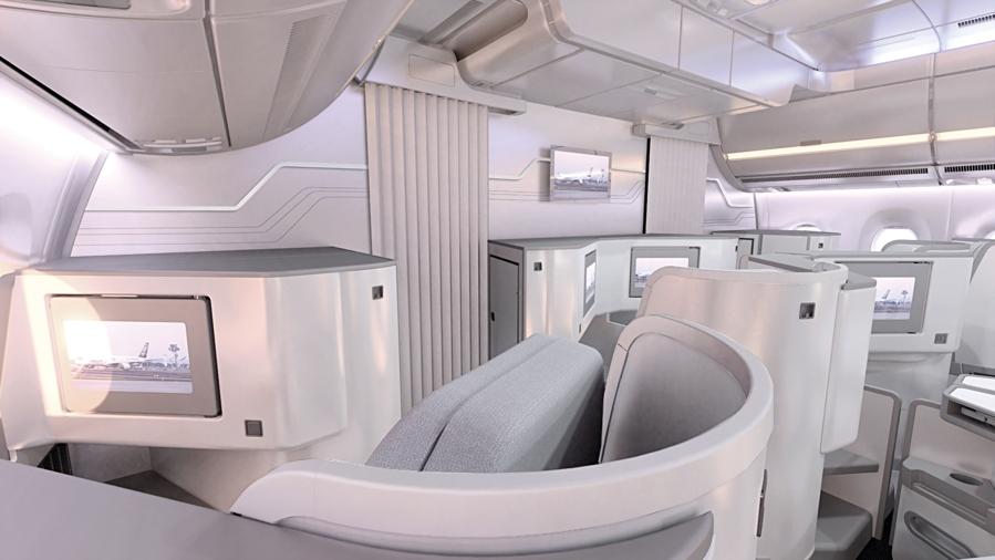 Finnair A350 XWB Business Class Cabin 04 HR