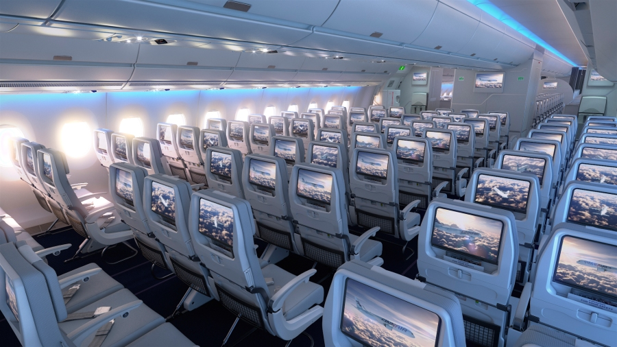 Finnair A350 XWB Economy Class Cabin 04 HR