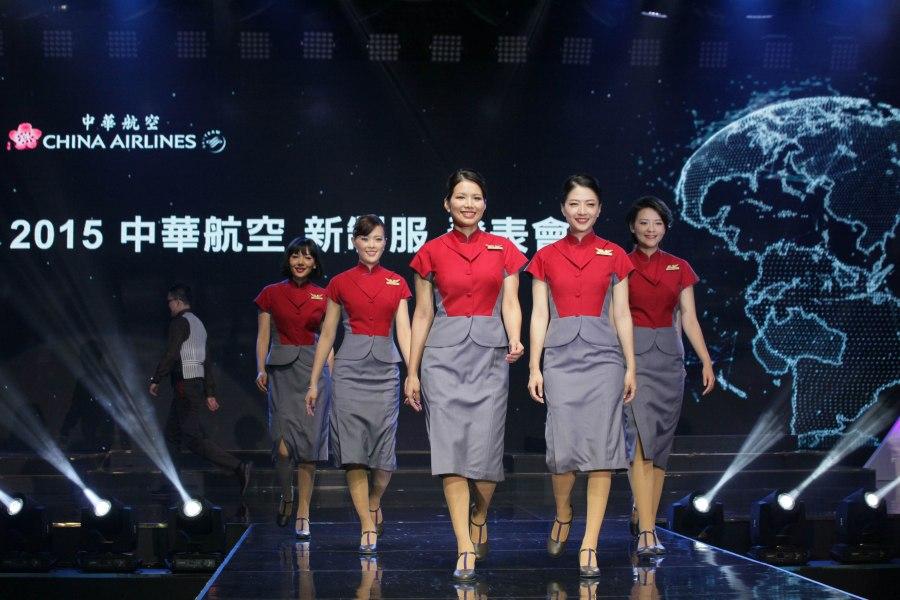 【新聞照4】 華航新制服發表 再創旗袍新時尚