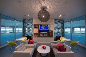 American Express DRW Lollipop Lounge and Media Wall