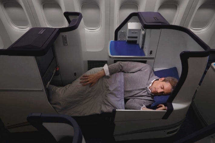 ANA Business Class flat bed seat