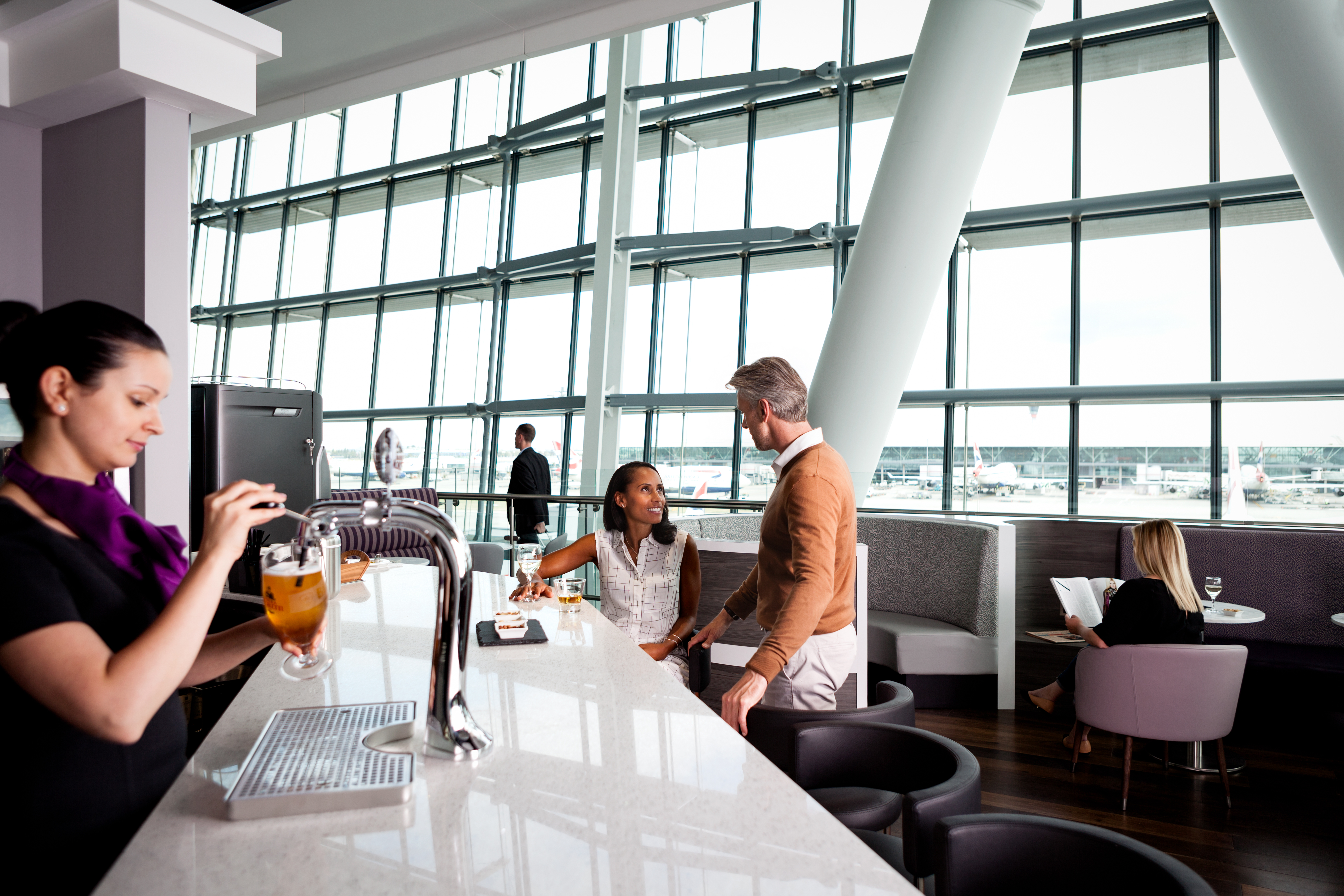 New pay for aspire lounge in london heathrow t5 for Salon priority pass