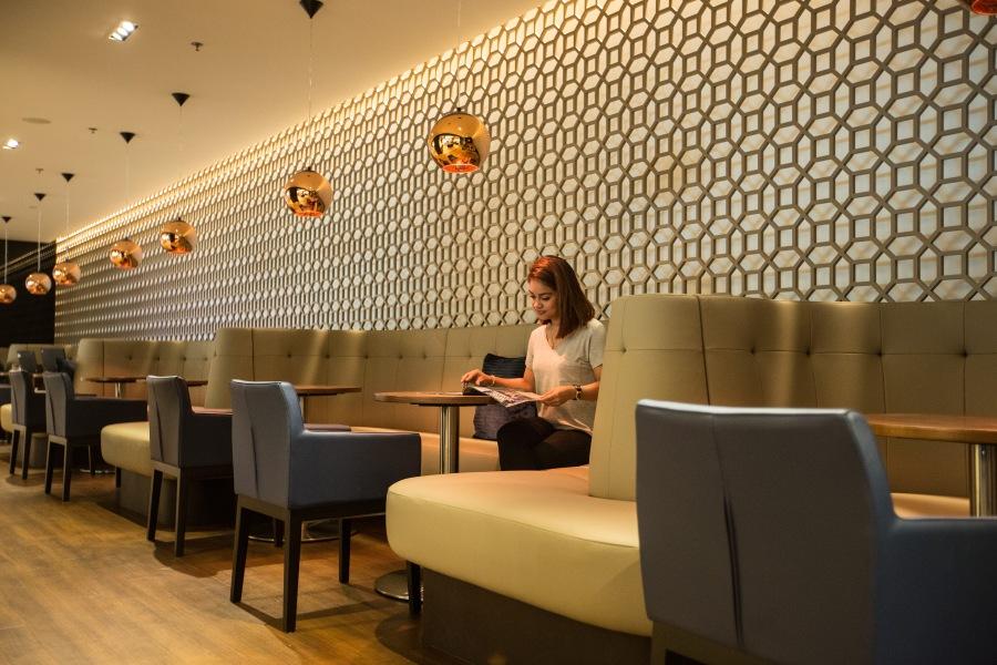 SINGAPORE: New British Airways lounge at Singapore Changi Airport on 23 August 2015