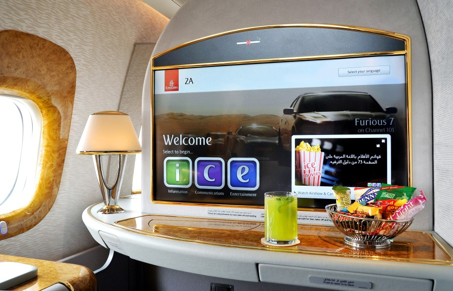 32 inch First Class screen on newly-delivered B777-300ER