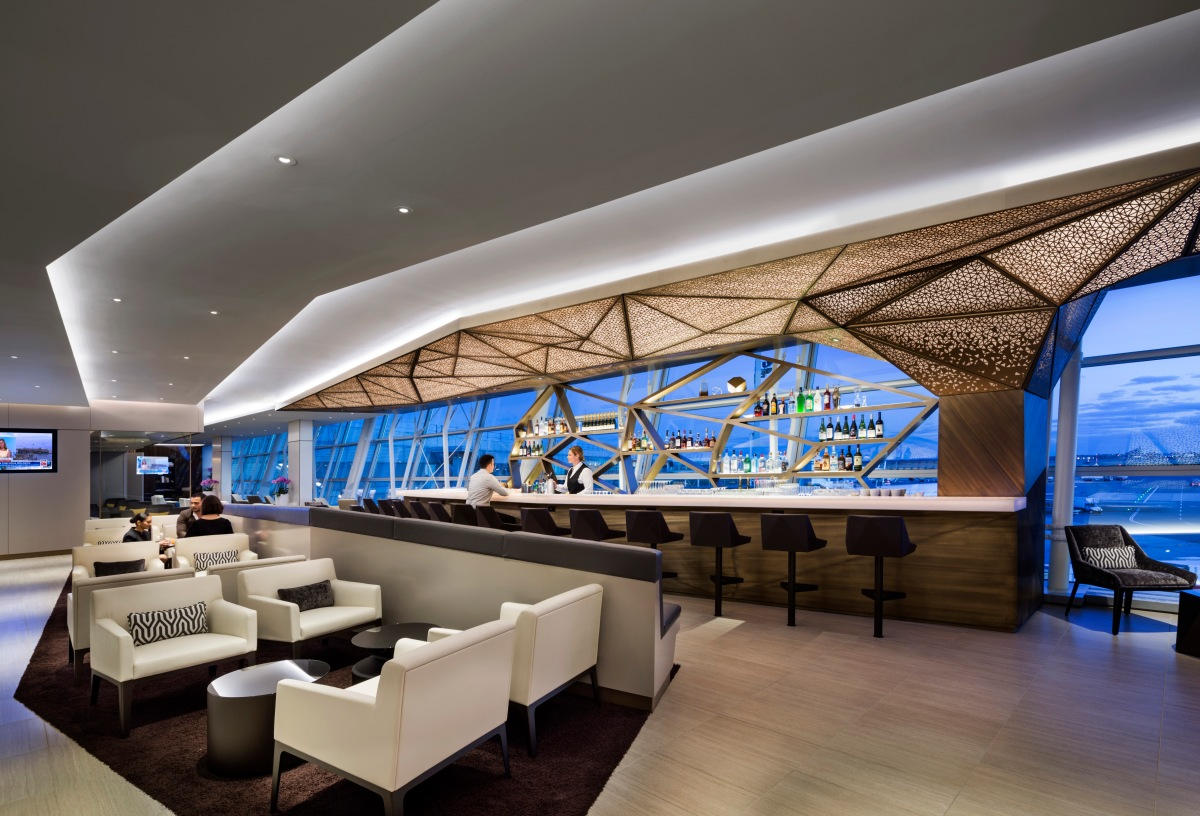 Etihad opens new lounge in new york jfk thedesignair for Hispano international decor abu dhabi