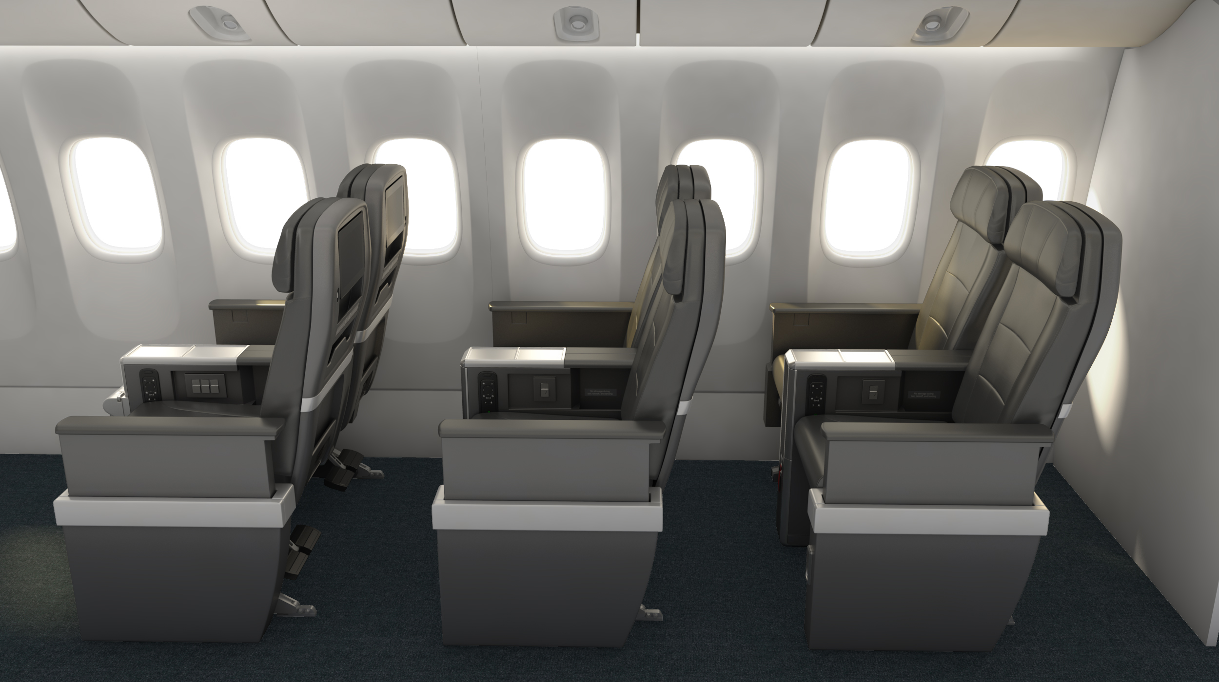 American airlines reveal international standard premium for International seating and decor