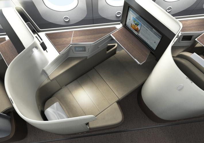 Saudia B787 Seat in lay flat Image 3