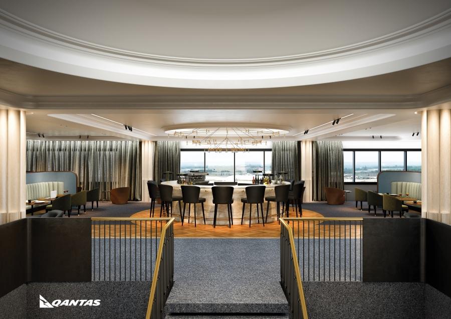 Introducing Qantas' new premium lounge at London Heathrow. Opening early 2017 Image 1