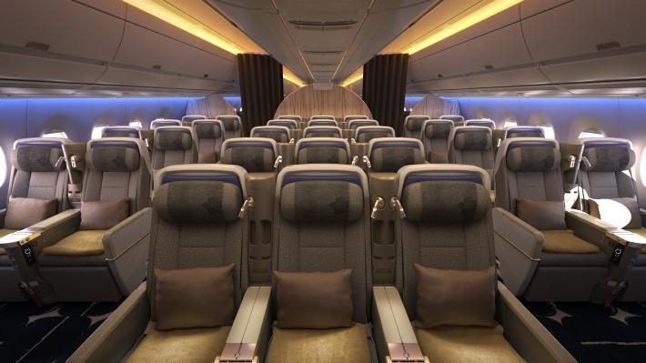 CAL Premium Economy Cabin