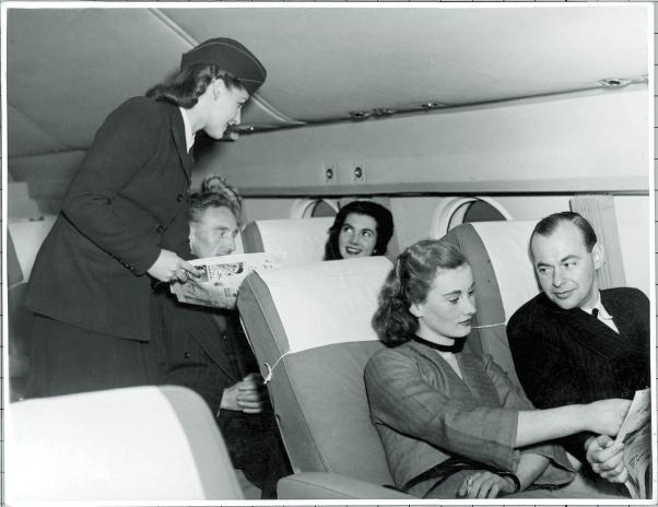 1950s transatlantic flight onboard service