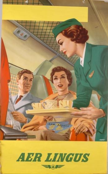 1950s Transatlantic Service Poster