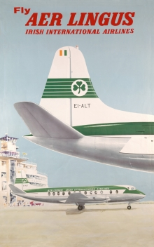 Aer Lingus Vickers Viscount Poster