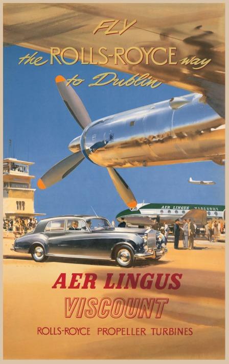 Aer Lingus Viscount - Rolls Royce Engines Poster