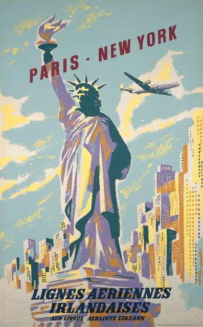 Paris - New York Poster