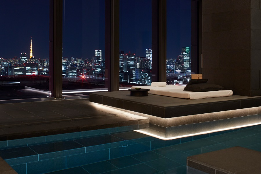 Pool_night_day bed